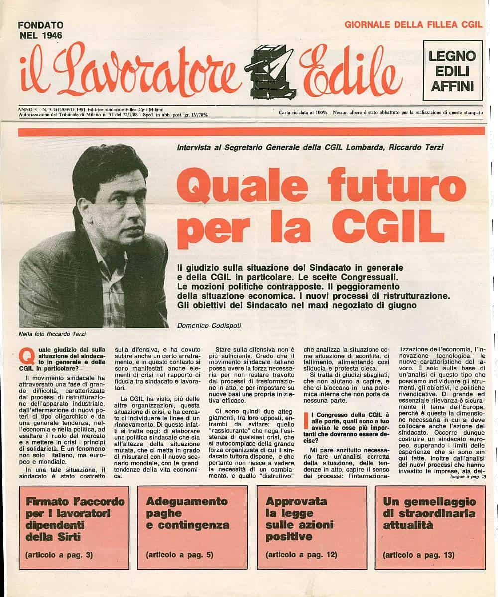 B21 - Quale futuro per la Cgil, intervista a Terzi di Domenico Codispoti