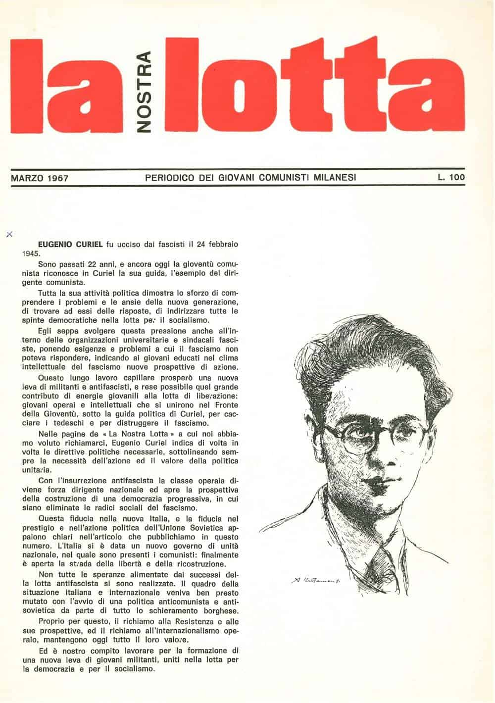 G116 - Eugenio Curiel (La nostra lotta 03-1967)