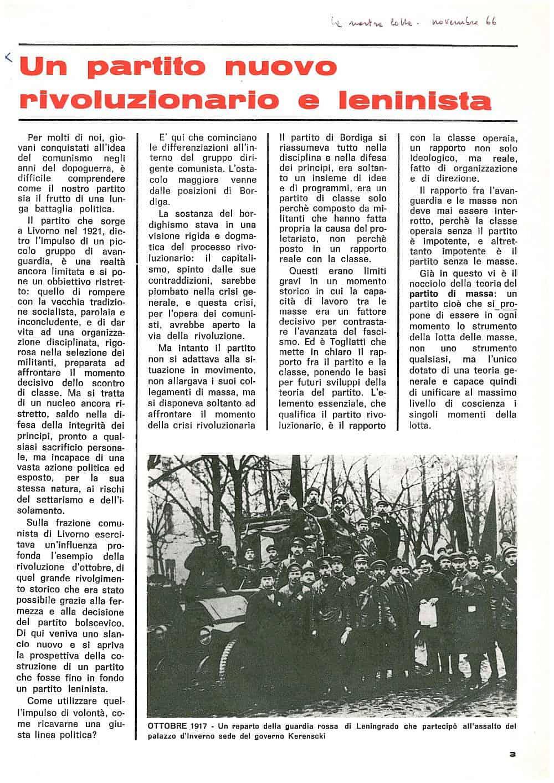 G121 - Un partito nuovo, rivoluzionario e leninista