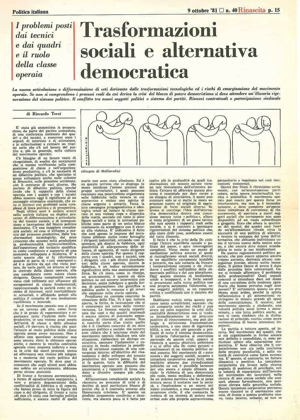 G18 - Trasformazioni sociali e alternativa politica