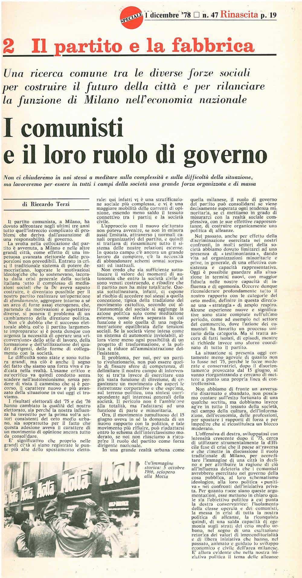 G35 - I comunisti e il loro ruolo nel governo