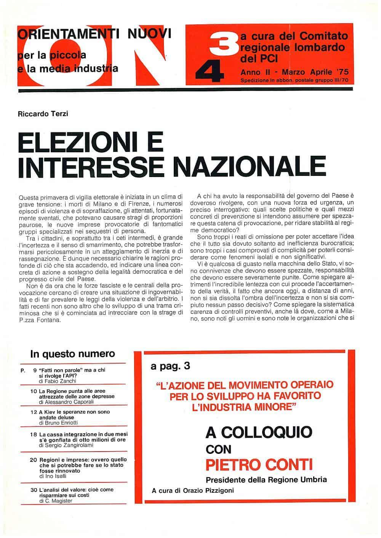 G40 - Elezioni e interessi nazionali