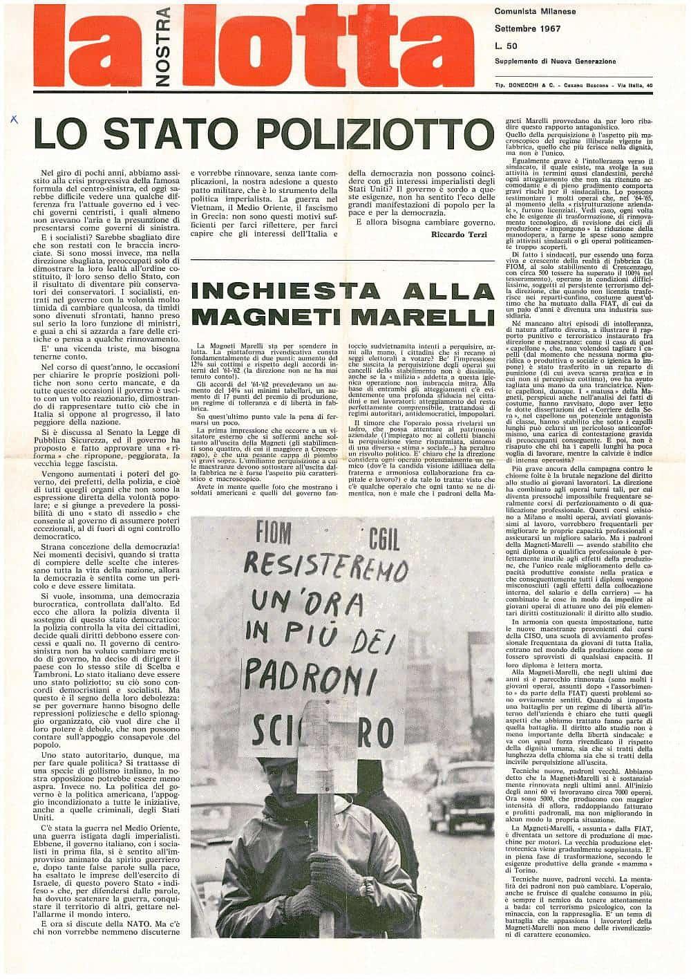 G95 - Lo stato poliziotto (La nostra lotta, 1967)