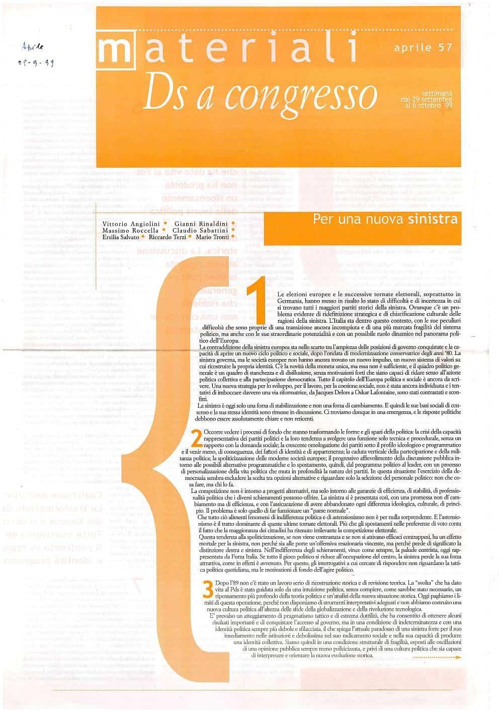 H6 - Materiali DS a congresso