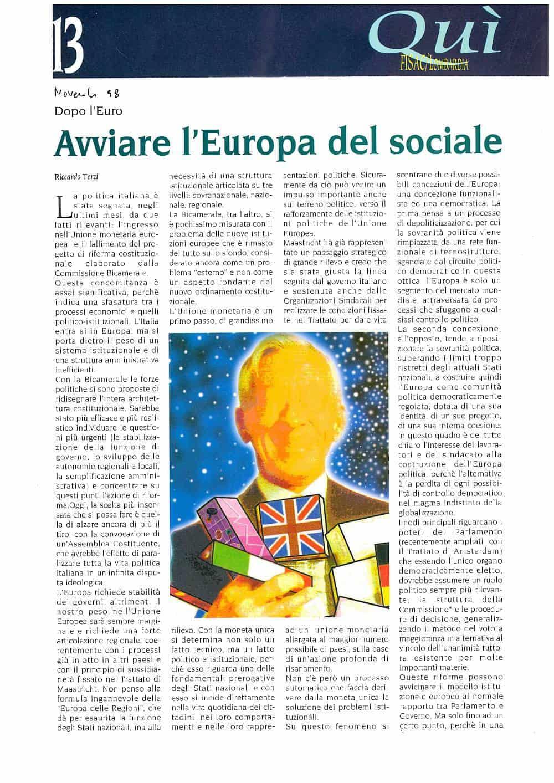 H63 - Avviare l'Europa del sociale