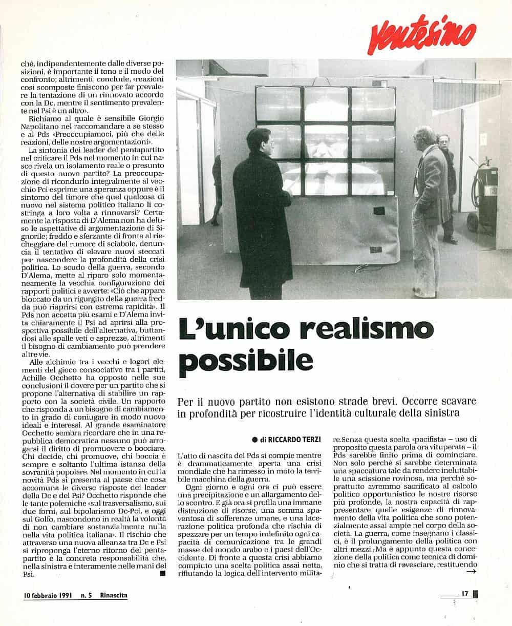 H75 - L'unico realismo possibile