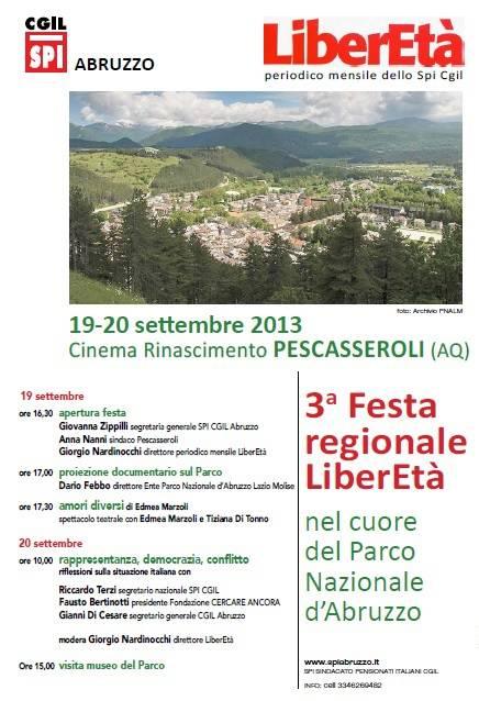 Festa LiberEtà 19 settembre 2013